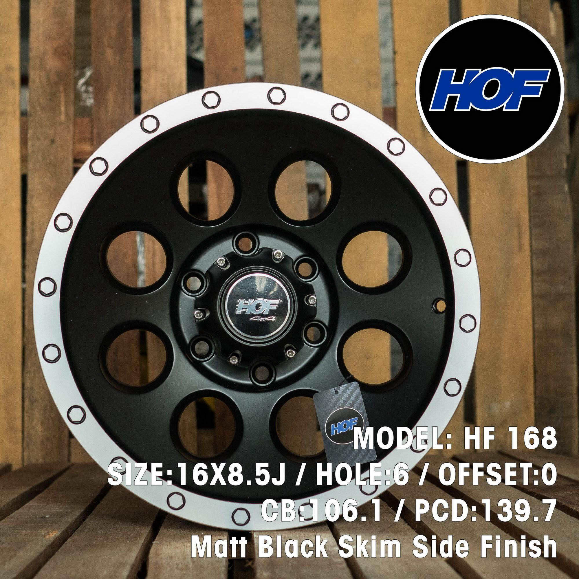 Hof 4x4 Hf168 16x8.5j Matt Black Skim Side Finish By Motareign.
