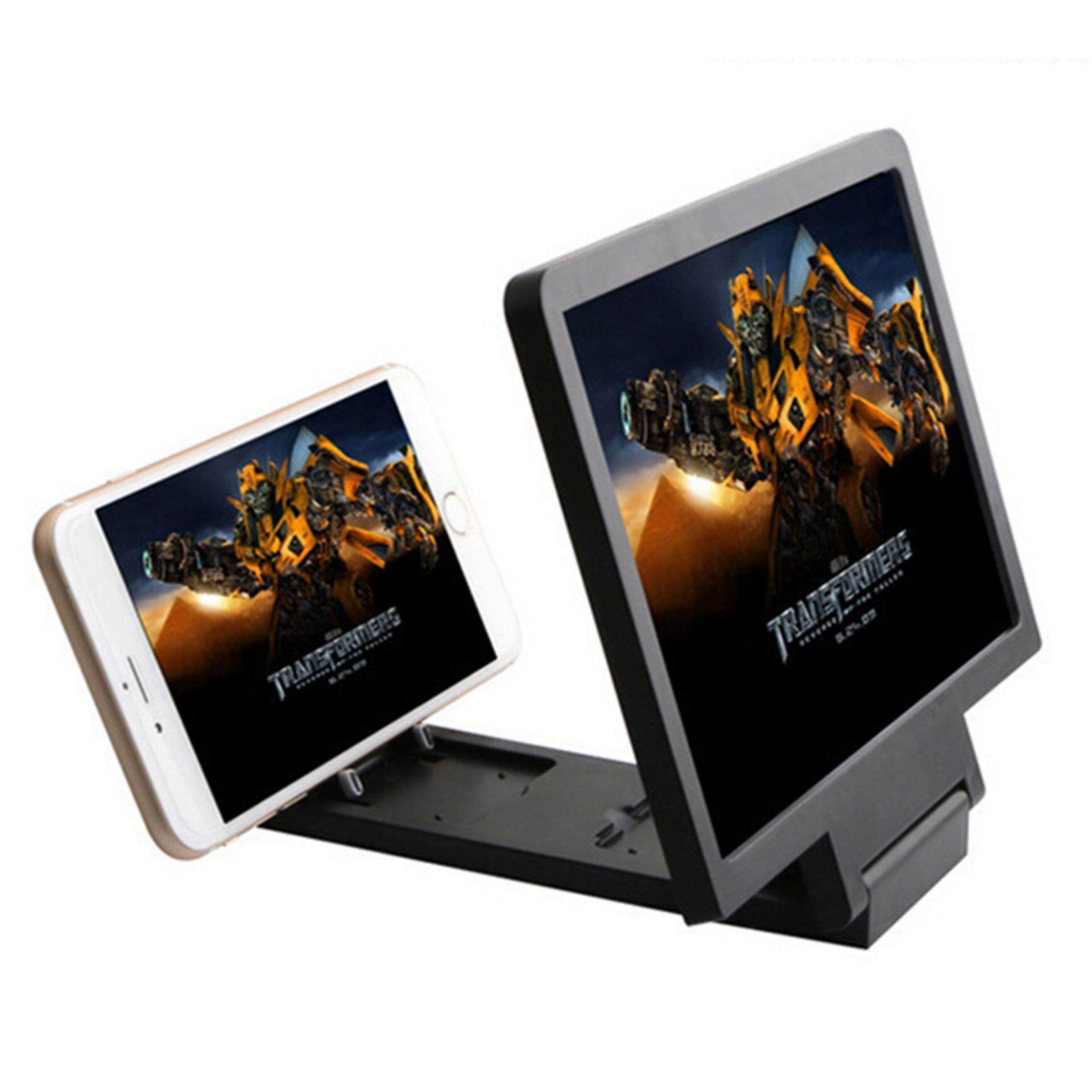 Mobile Phone 3d Screen Hd Video Amplifier Magnifying Glass Stand Popular Black By Buy Tra.