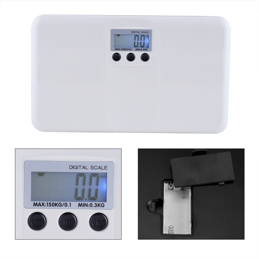 2594a2378ab8 Justgogo- Electronic Digital Body Fat Weight Scale LCD Digital Display Baby  Pet Body Personal Digital Weighing Scale