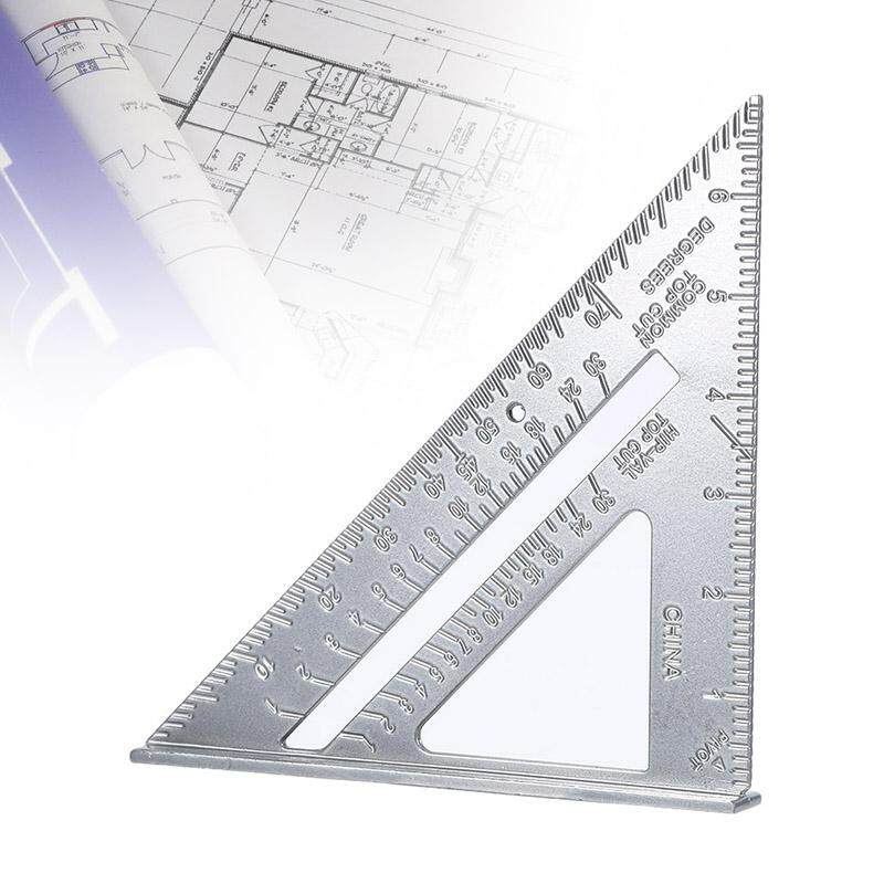 XJING Alloy Triangle Protractor Miter Framing Tri-square Line Scriber Saw Guide Measurement Carpenter Ruler Measuring Tool