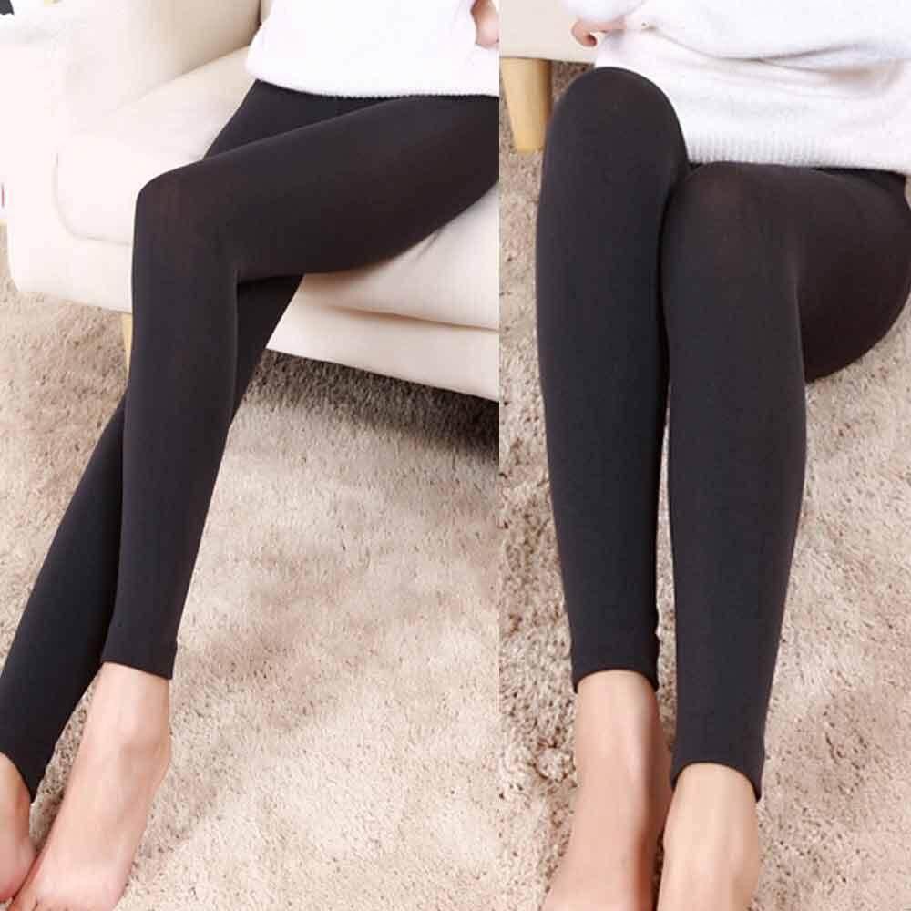 f666b982166c9 FashionDoor Women Plush Cashmere Leggings Casual Thick Leggings Super  Elastic Slim Legging
