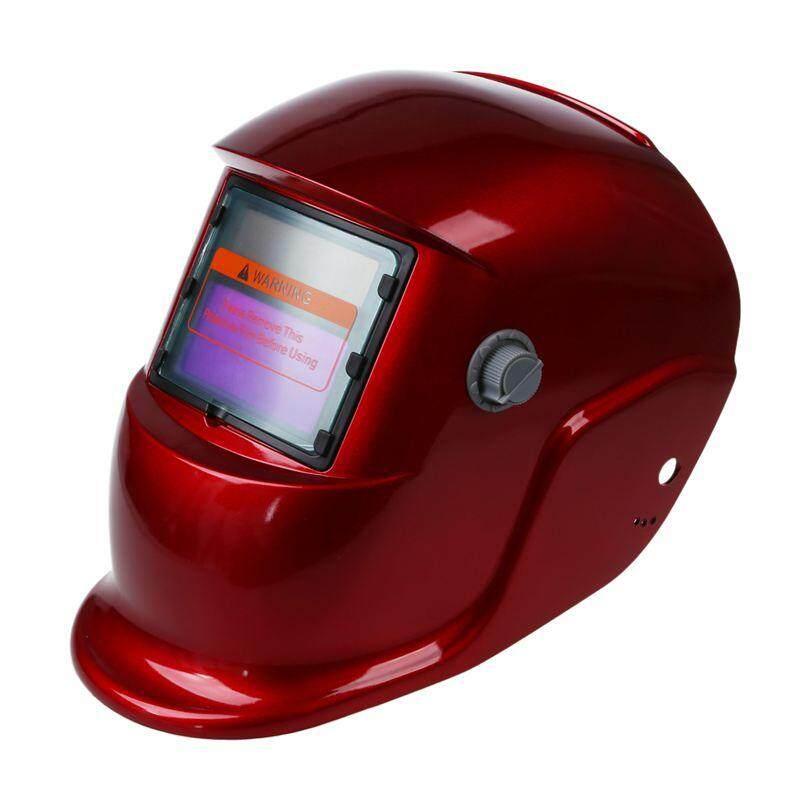 Auto Darkening Solar Power Welding Helmet LCD Filter Mask Delay Time Welders Red