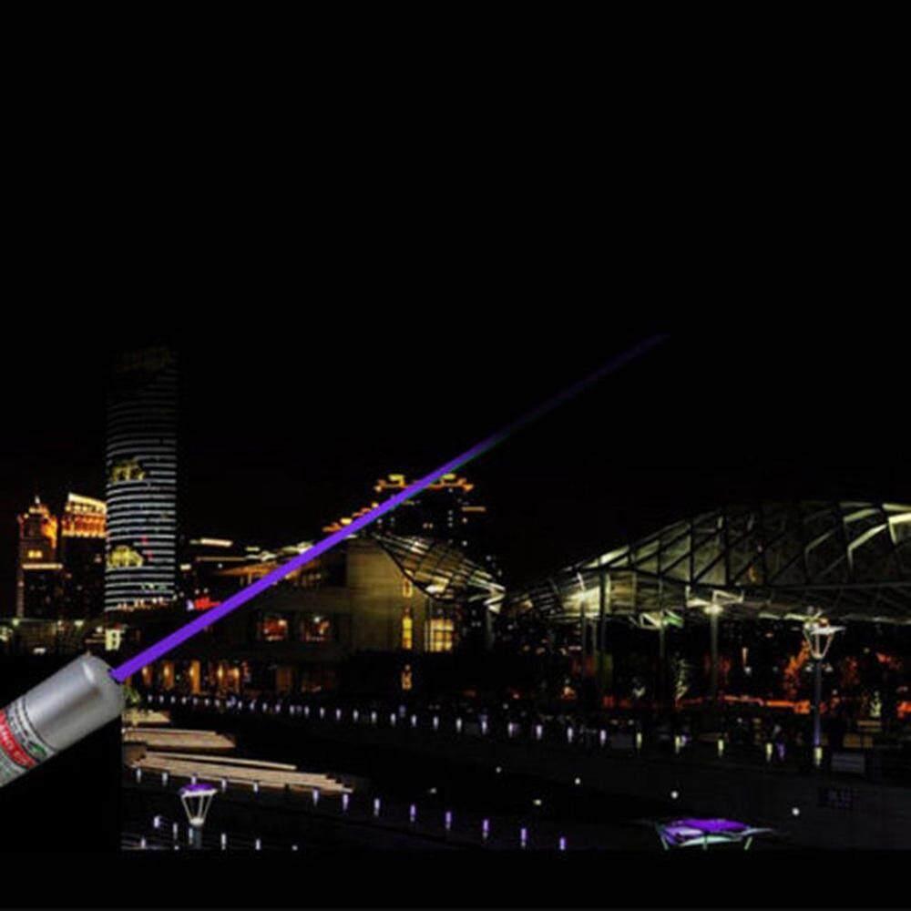 Powerful Blue Purple Laser Pointer Pen Beam Light 5mw 405nm Professional Laser - Black