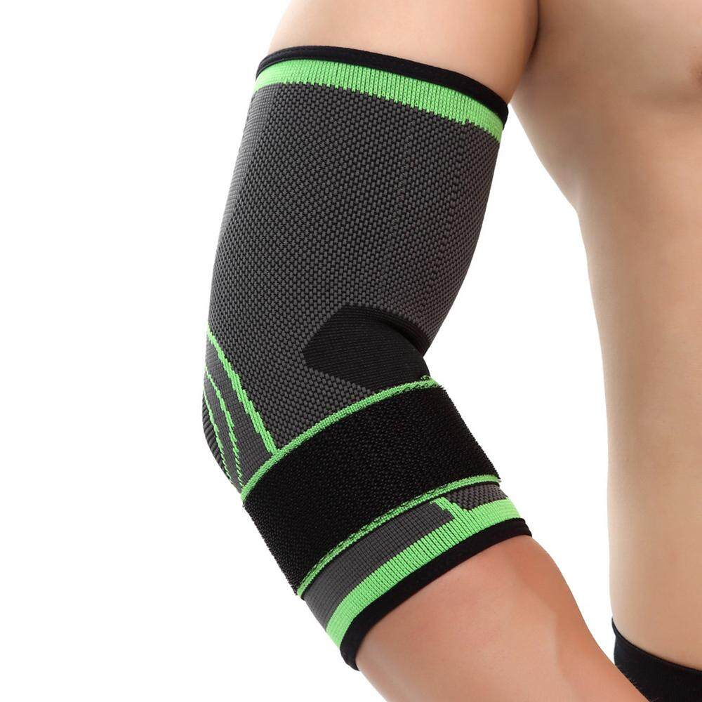 Elastic Elbow Protective Pad Sports Adjustable Elbow Support for Basketball Tennis Running Riding Mountain Climbing XL