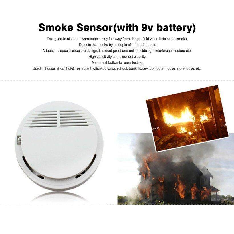 WOND Independent Type Smoking Detector Alarm Fire Smoke Sensor For Home Security