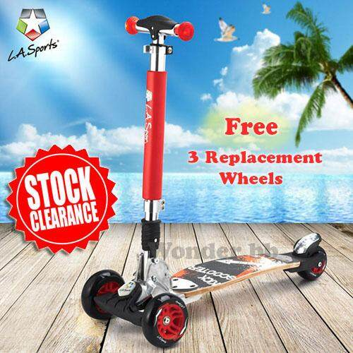 L.a. Sports Adult 3-Wheels Kick Scooter (free 3 Replacement Wheels) By Wonder Bb.