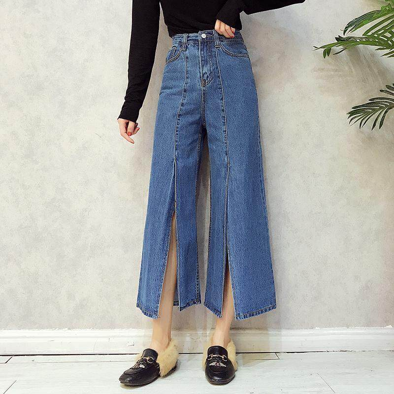 ankle-length pants blue jeans ( Biru. Source · Jeans female .