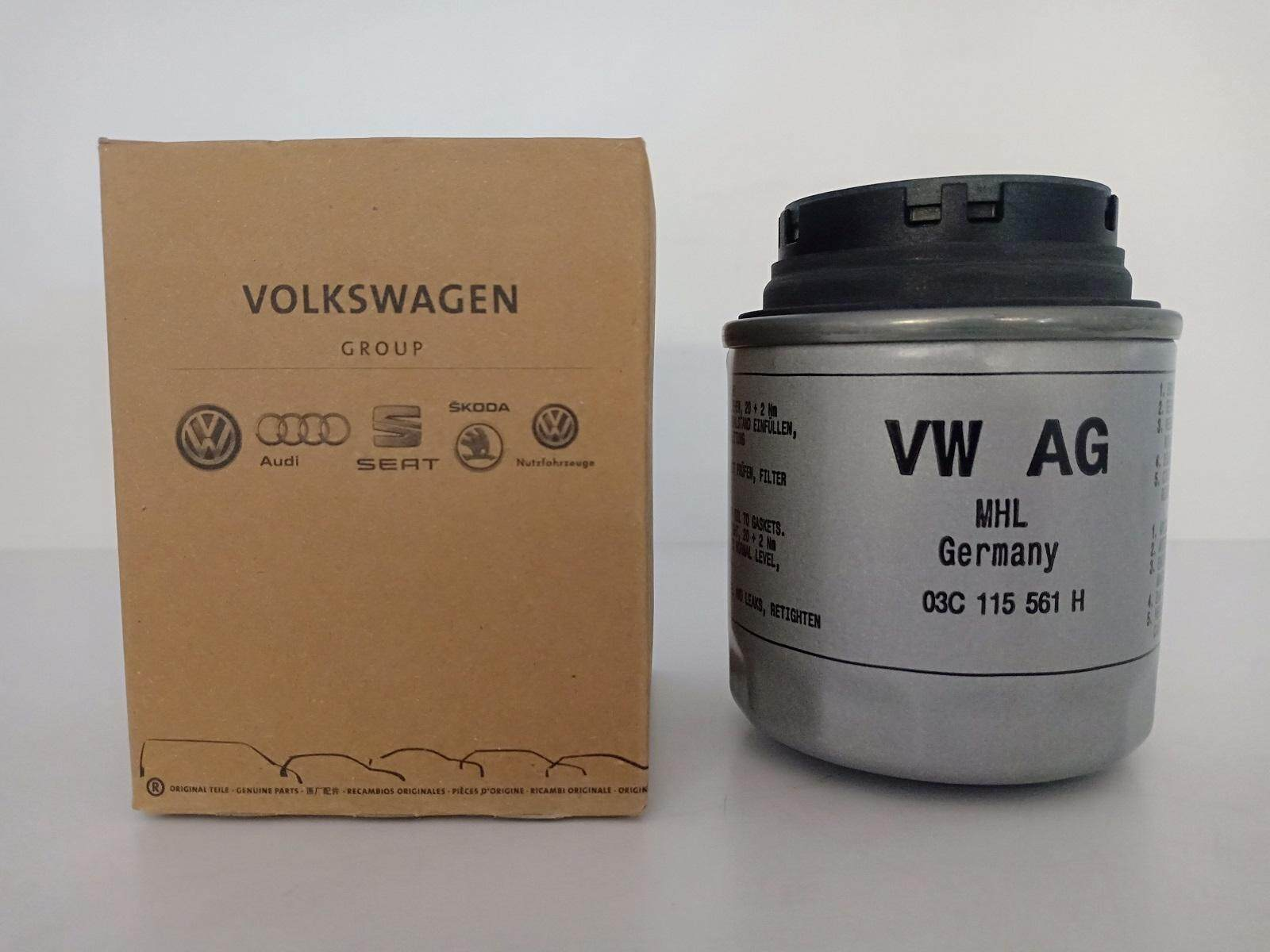 Genuine Oil Filter For Vw Golf Jetta Beetle Tiguan Touran Scirocco Polo 14 Tsi Vento 16 03c115561h 2009 Volkswagen Fuse Box Cover