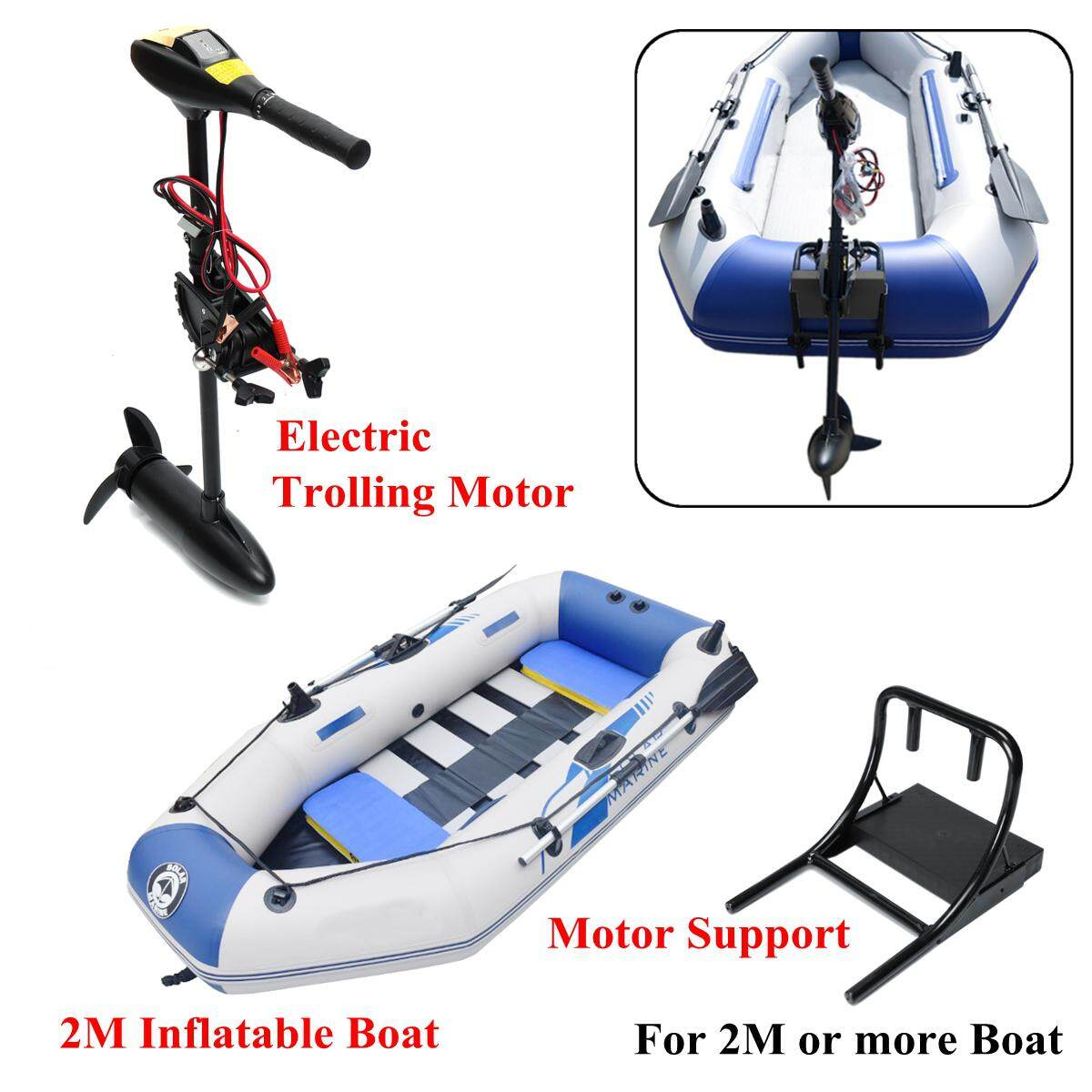 【Free Shipping + Flash Deal】18/28/40/48/60/88LBS 12/24V Electric Outboard  Trolling Thrust Motor Boat Engine