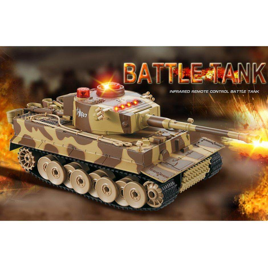 ELEC 518 1/24 RC Tank Crawler IR Remote Control Toys Simulation Infrared RC  Fighting Battle Tank Toy RC Car gifts for kids
