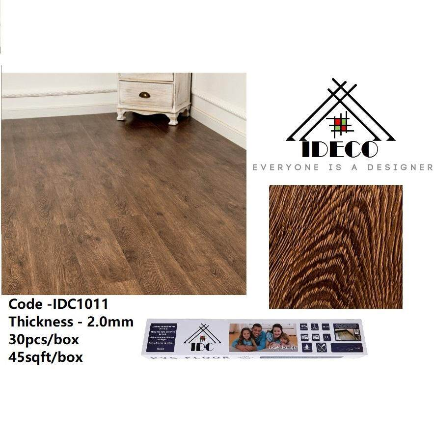 45sqft 30keping Ideco Self Adhesive Vinyl Flooring No Glue Needed 2 0mm