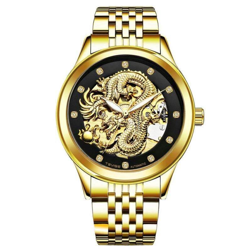 Luxury Automatic Men Watch Waterproof Wrist Watch Business Exquisite Watch Black Malaysia