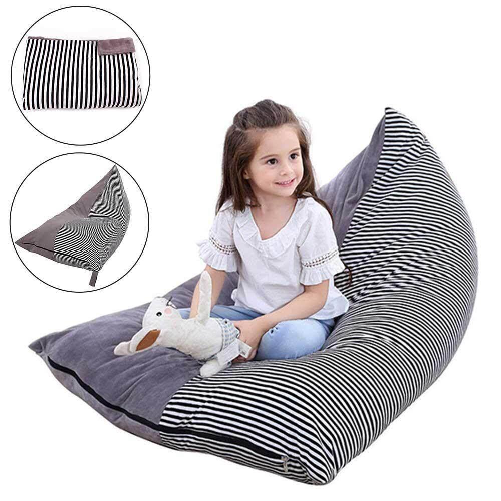 Teekeer Crystal velvet Stuffed Animal Storage Bean Bag Chair | Soft Toy Bag Organizer | Comfortable