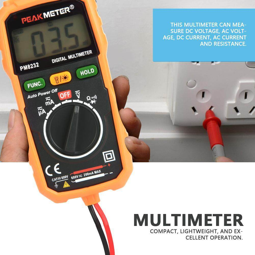 PEAKMETER PM8232 High Precision Digital Display Non-contact Multimeter