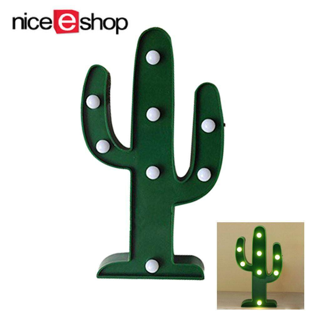 Niceeshop Marquee Light, Wall Decor Holiday Birthday Party Led Lamp Light Battery Operated For Kids Baby Adults Bedroom ,tropical Cactus By Nicee Shop.