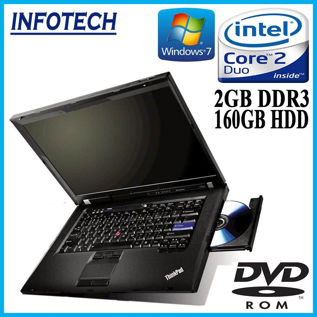 Lenovo Thinkpad R500 Intel Core 2 Duo 2GB DDR3 RAM 160gb HDD DVD laptop notebook (refurbished) Malaysia