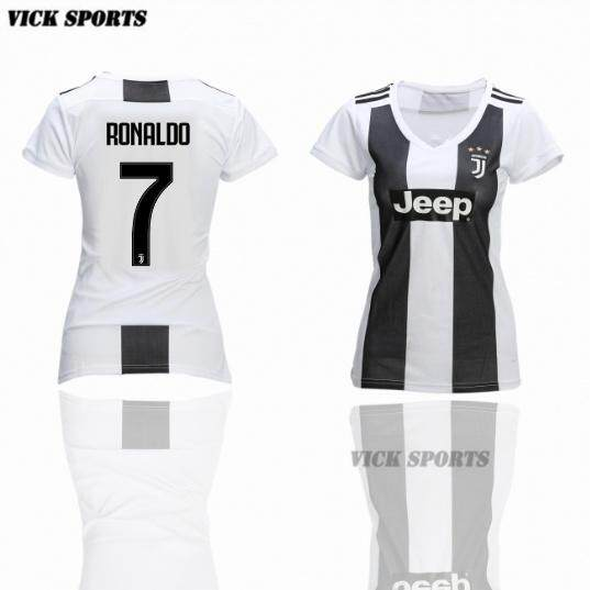 quite nice 0b298 db109 2019 New Season Top Quality No.7 Ronaldo Juventus Home Jersey Football  Jersey For The 2018/2019 For Girls Women Fans By Vick Sports