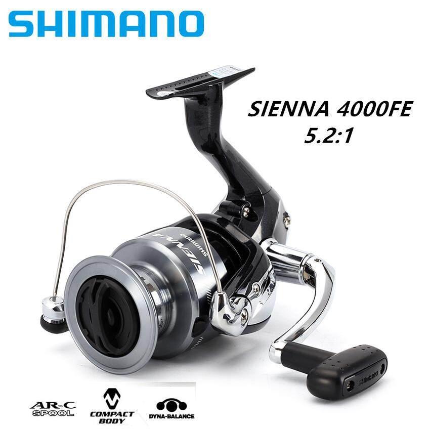 [100% Original]Shimano SIENNA 4000FE Spinning Fishing Reel 1+1BB Front Drag  XGT7 Body Saltewater Carp Fishing Reel(Sea Fishing)