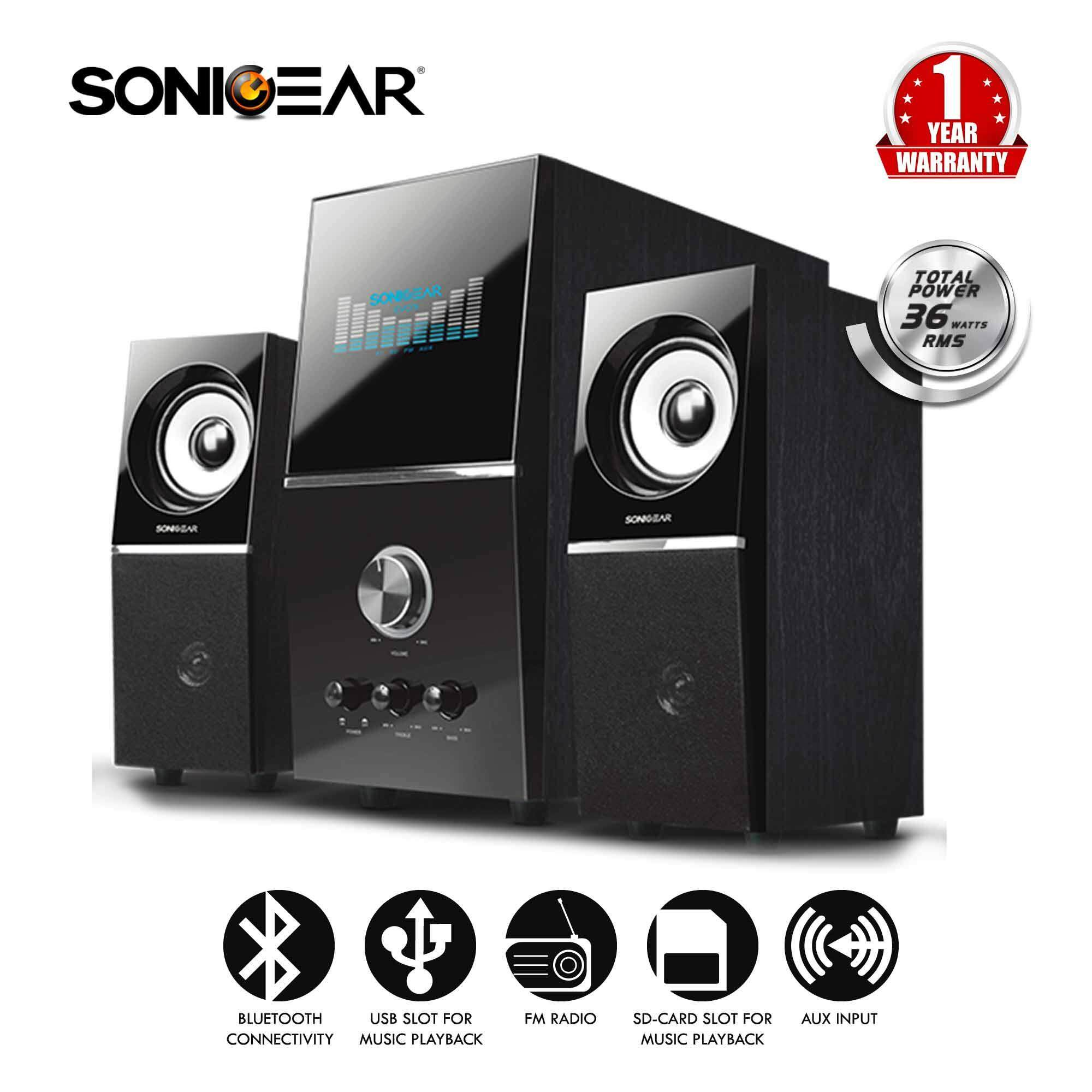 Sonicgear Evo 5 Pro Bluetooth Multimedia Speaker With Usb/fm Radio/sd-Card By Leapfrog E-Store.
