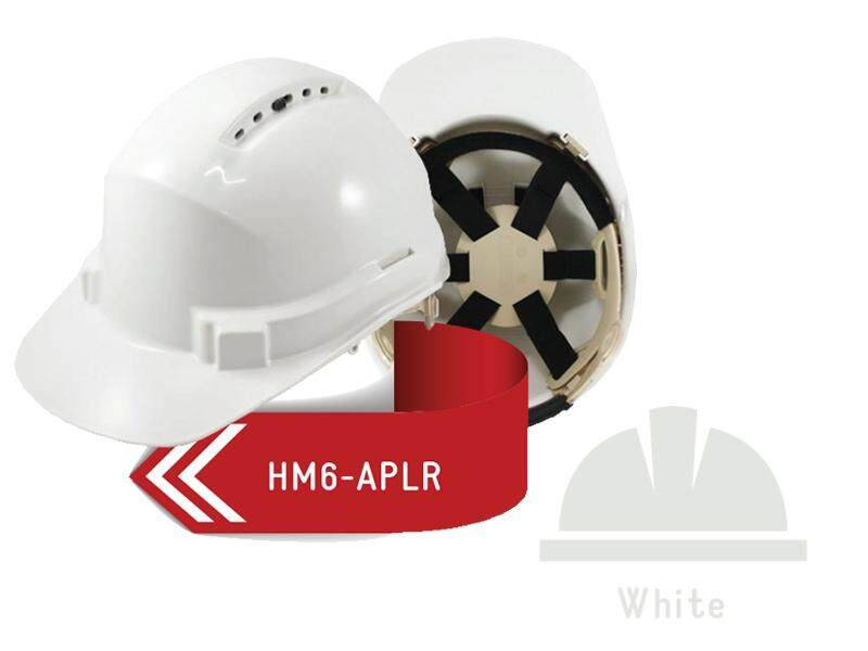 ISAF Industrial Safety Helmet come with Ratchet Lock, Sweatband & Chinstrap - White