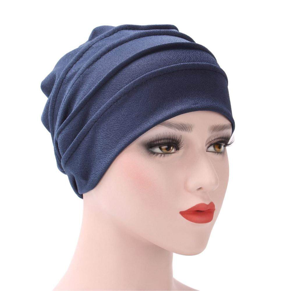 Nagostore Women India Hat Muslim Ruffle Cancer Chemo Hat Beanie Scarf Turban Head Wrap Cap By Nagostore.