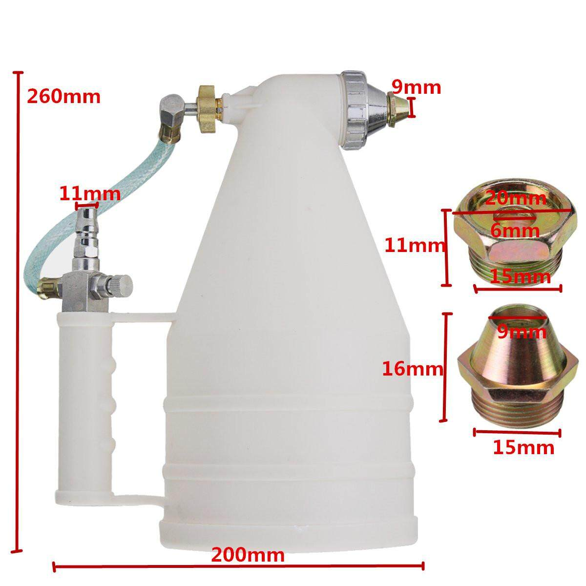 3000cc Wall Painting Sprayer Cement Sprayer Air Gravity Hopper White