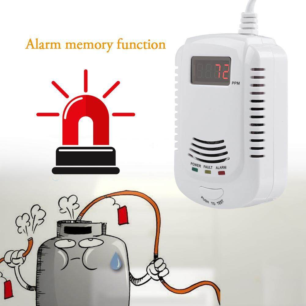 Smoke Monoxide Detector Kitchen Liquefied Gas Leak Sensor Monitor Alarm (US 90V-240V)
