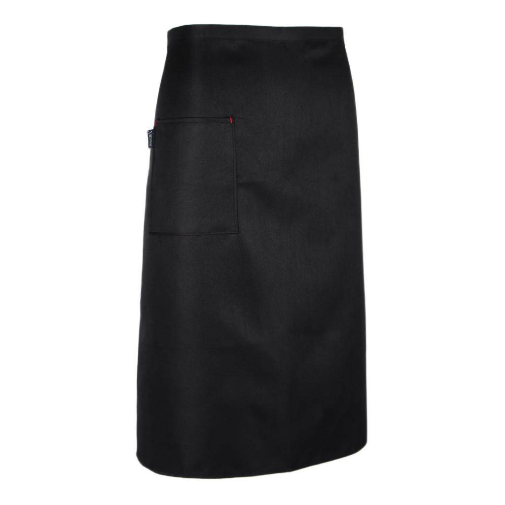 Dolity 3 Pieces Black Kitchen Half Length Waist Catering Chef Hotel Waiter Apron