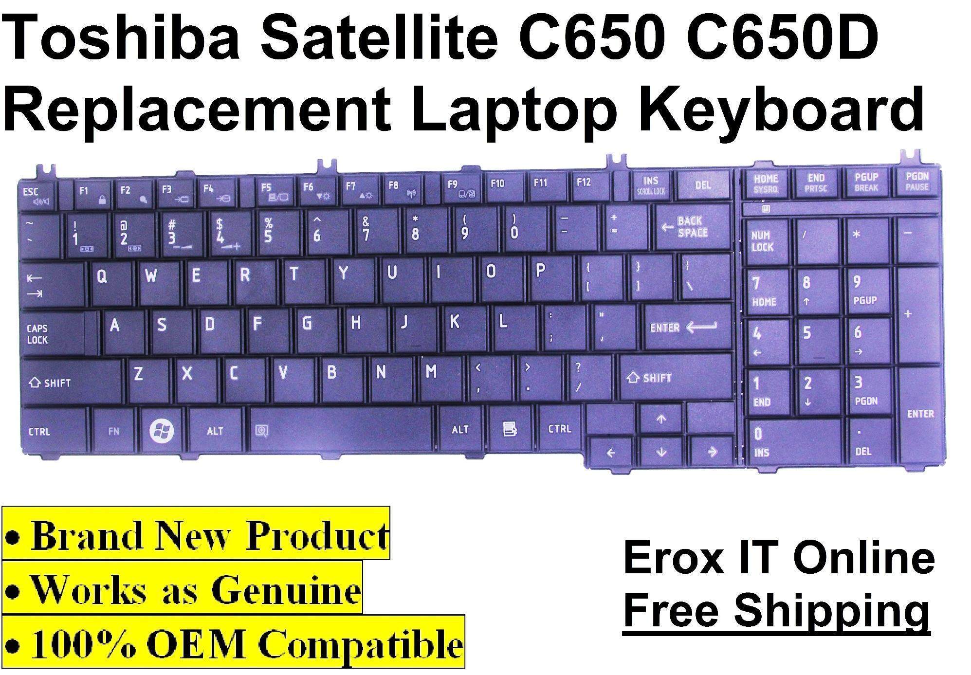 Toshiba Satellite L755 Series OEM Replacement Keyboard /Toshiba C650 Replacement Laptop Keyboard Malaysia