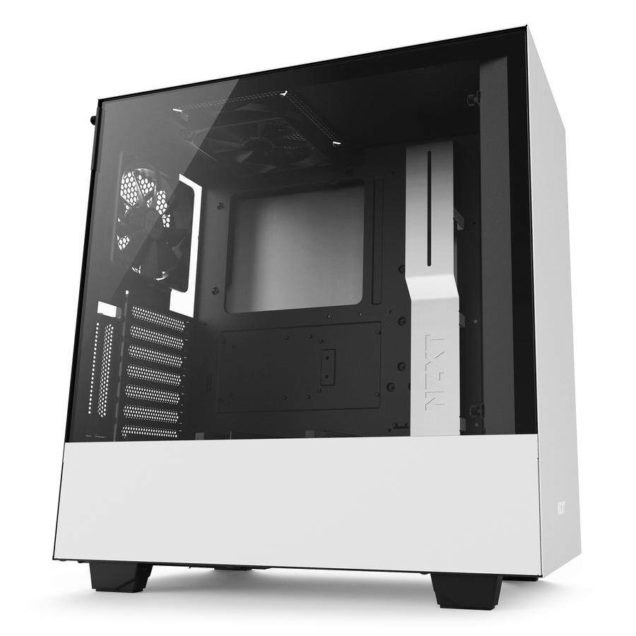 # NZXT H500 Compact Mid-Tower Case with Tempered Glass # Matte Black | Matte White | Matte Black+Red Malaysia