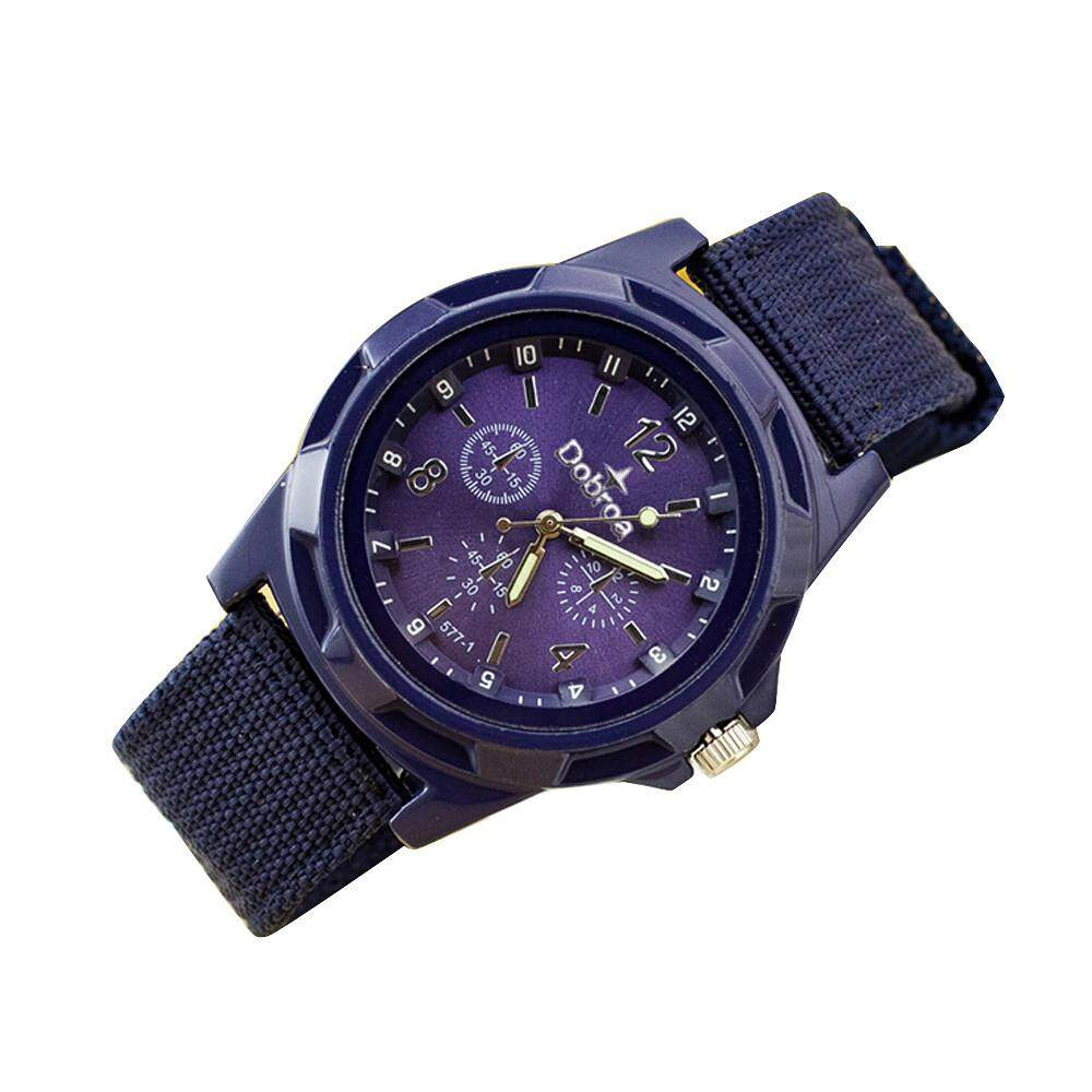 ViviMall Mens Fashion Sport Braided Canvas Belt Watch Analog Wrist Watch Malaysia