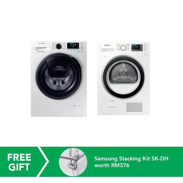 Samsung 10.5kg Front Load Washer + 8kg Condenser Front Load Dryer