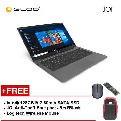 JOI Book 100 - A147DG Cel N3450, 4+32GB, 14 FHD, W10 Home, Dark Grey {Free Intel® 128GB M.2 80mm SATA SSD + JOI Anti-Theft Backpack - Red/Black + Logitech M171 mouse} Malaysia