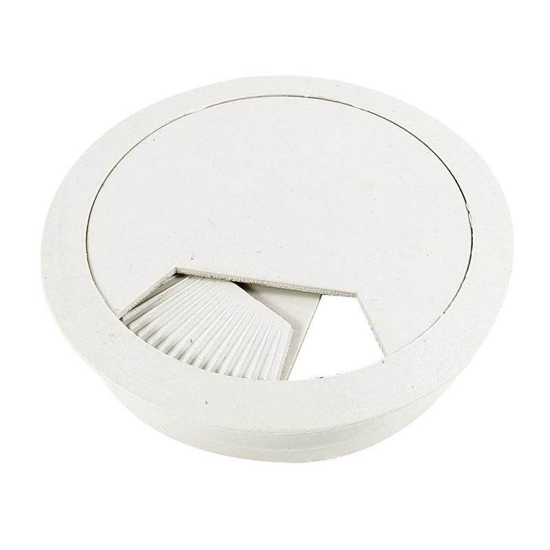 Computer Table 6cm Dia Plastic Light Gray Grommet Cable Hole Cover Malaysia