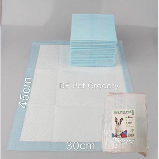 Wee Wee Pad Super Economical (100pcs) 33cm X 45cm By Df Pet Grocery.