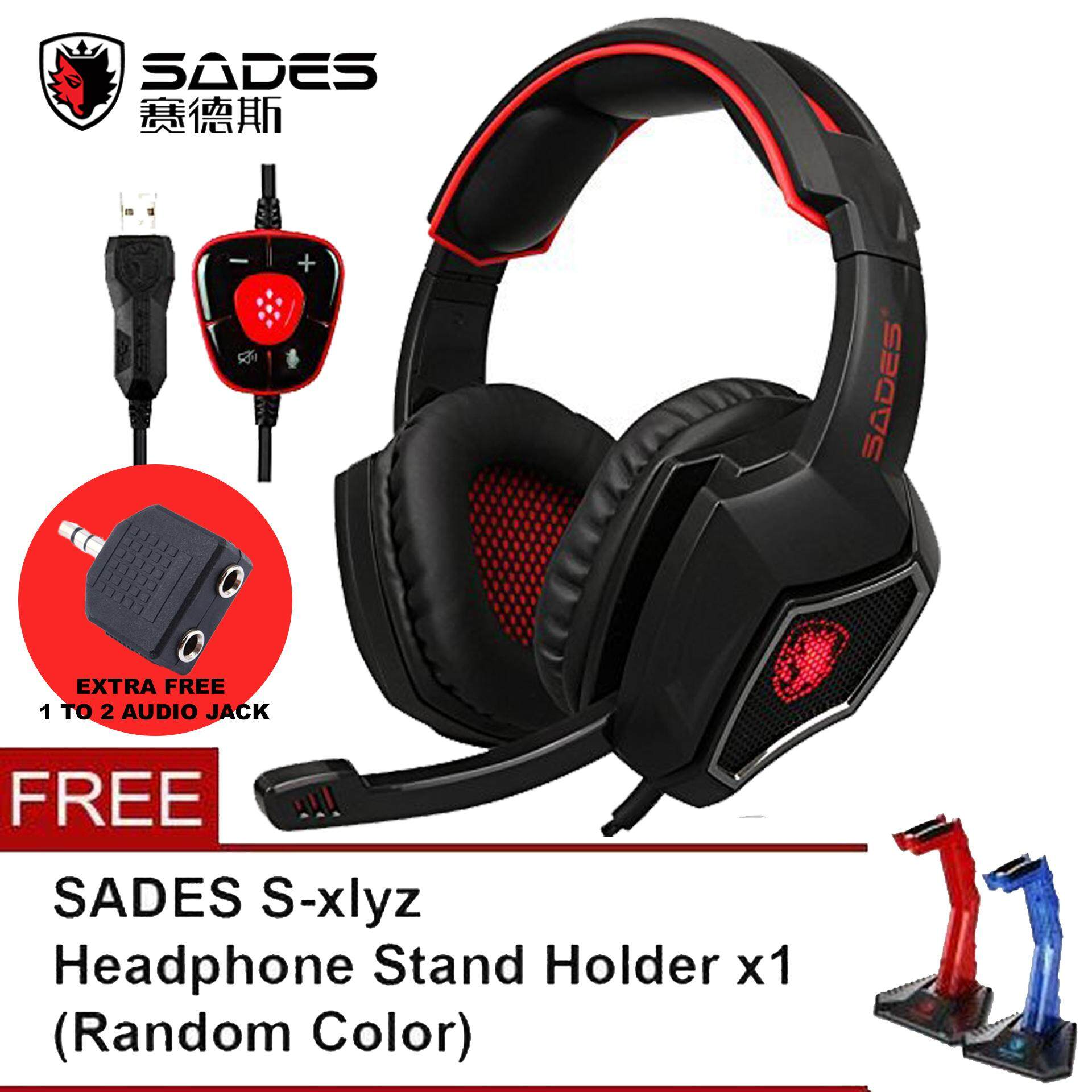 Sades Products For The Best Prices In Malaysia Sa 708 Headset Gaming Headphone Stereo Sound Blue