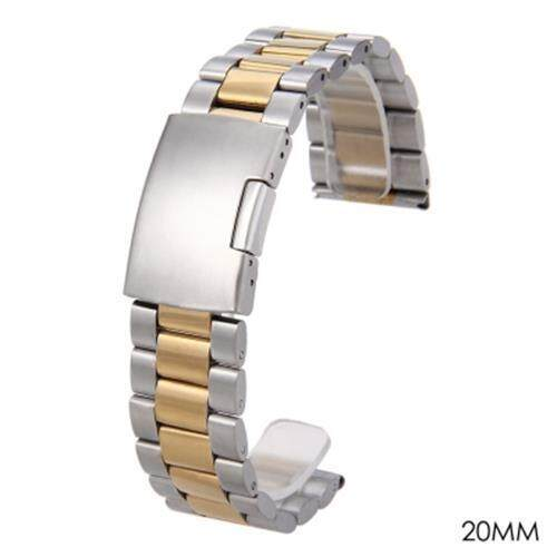 22MM STAINLESS STEEL WATCH BAND FOLDING CLASP STRAP (GOLDEN) Malaysia