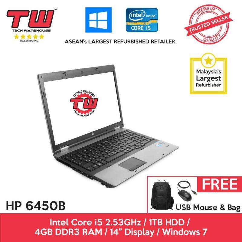 HP ProBook  6450B Core i5 2.53GHz / 4GB RAM / 1TB HDD / Windows 7 Laptop / 3 Months Warranty (Factory Refurbished) Malaysia