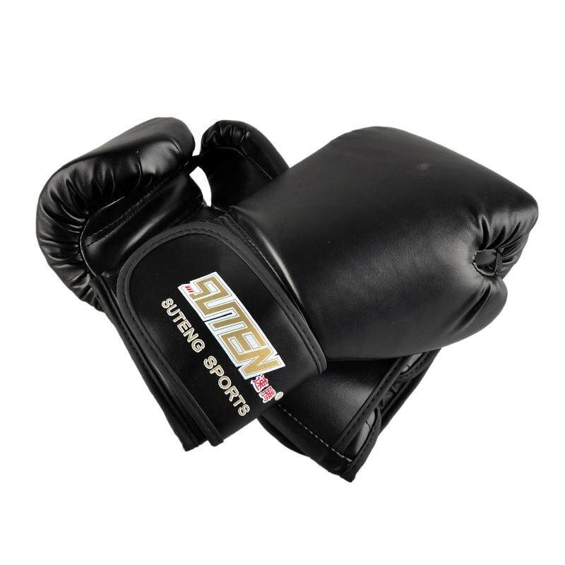 Suteng Pu Leather Sport Training Equipment Boxing Gloves(black) By Shakeshake.