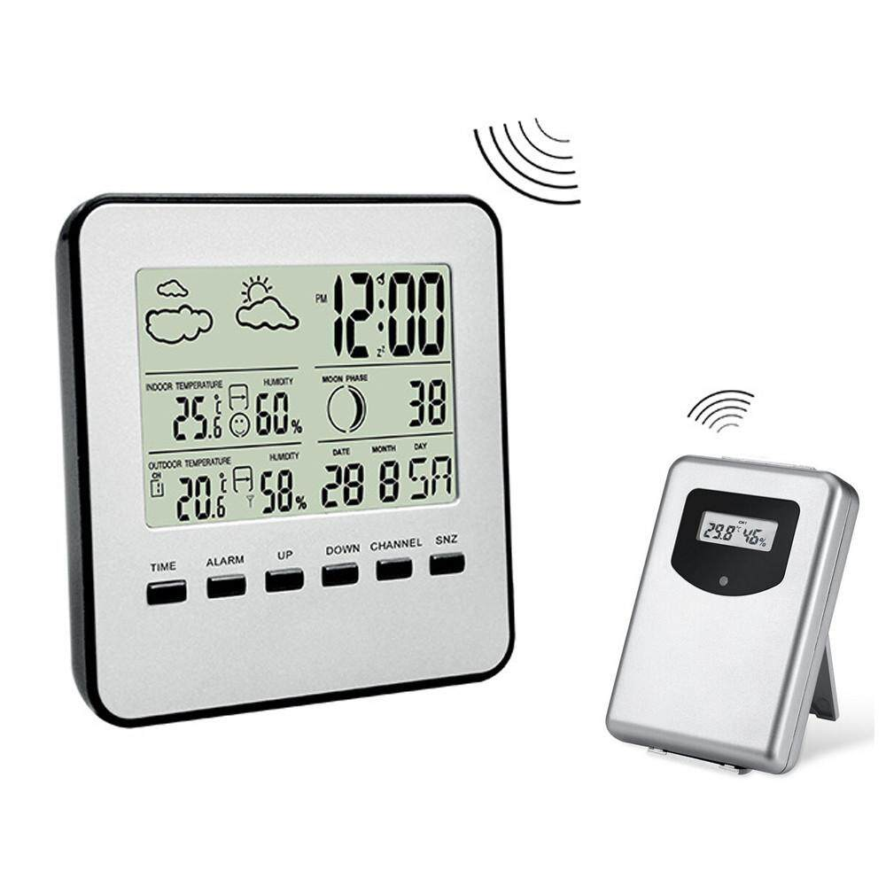 TOMATOLL Digital Weather Station Channel Thermometer Wireless Weather Monitor Radio