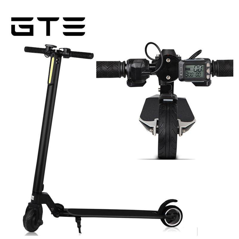 Gte Electric Scooter Foldable Adult Lithium Battery Two-Wheeled City Scooter Carbon Fiber - Fulfilled By Gte Shop By Gte Shop.