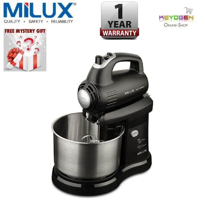 Milux Multi-Pro Stand Mixer Msm-9512 5-Speed Control + Turbo Function - 1 Year Warranty (free Mystery Gift) By Keyogenshop.