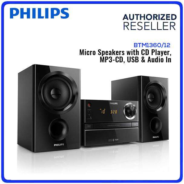 Philips Micro Music System Micro Hifi BTM1360/12 CD, MP3-CD, USB, FM, Alarm, Sleep Timer LED Display