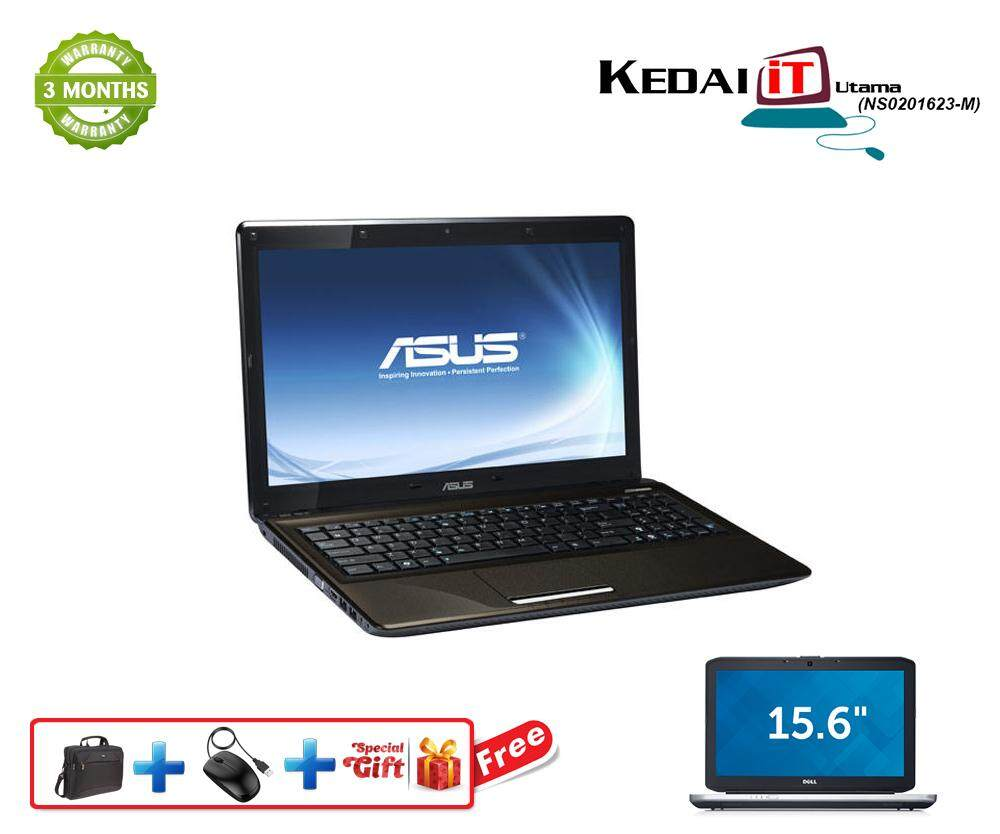 Asus Laptop X52F i3 2GB Ram 160GB HDD DVD WebCam Windows 10 Recon Malaysia