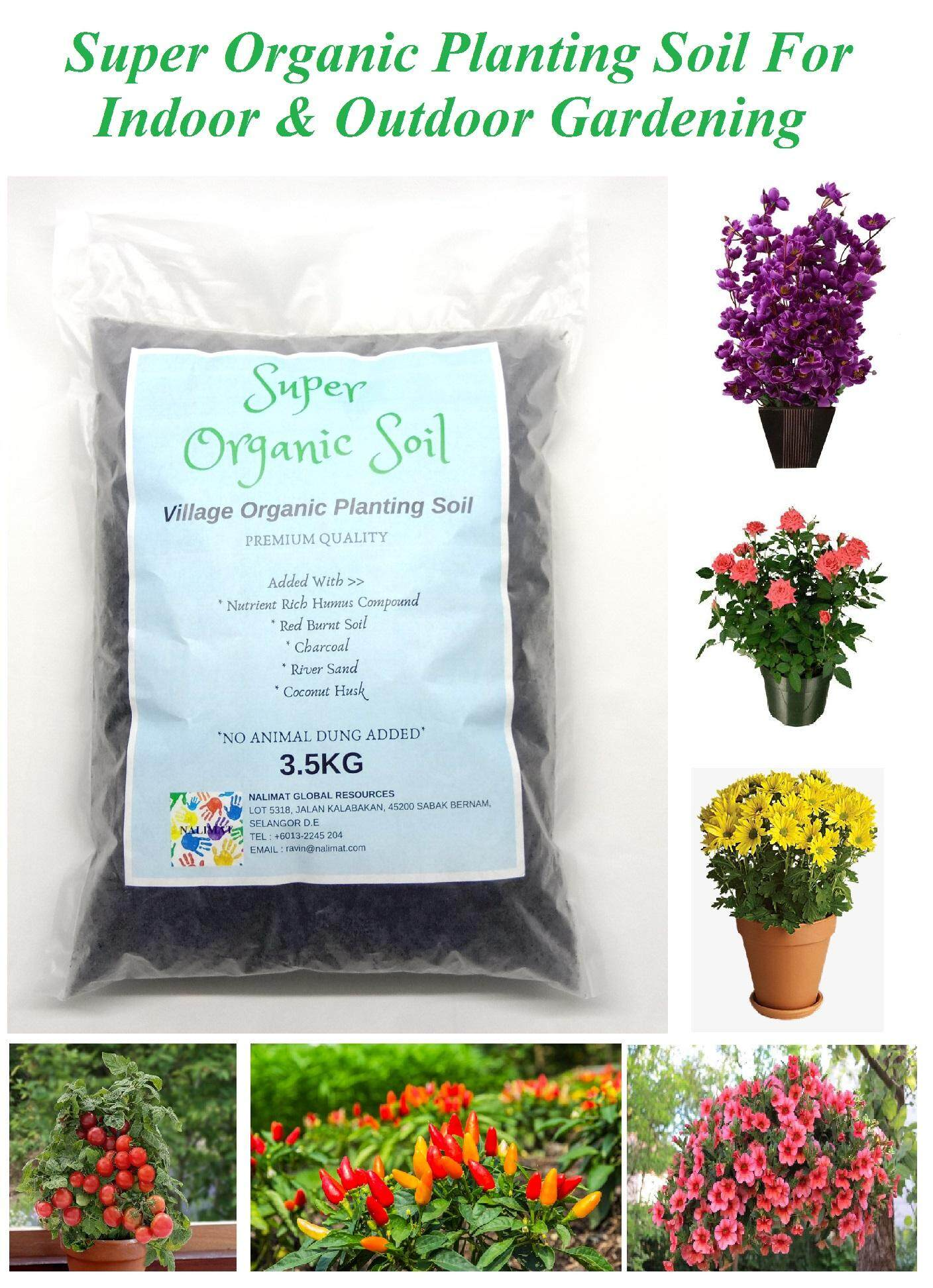 Super Organic Planting Soil For Indoor And Outdoor Gardening