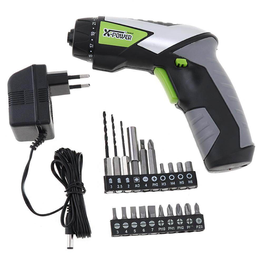 AC 220V Cordless 4.8V Handle Rechargeable Electric Screwdriver for Household Maintenance