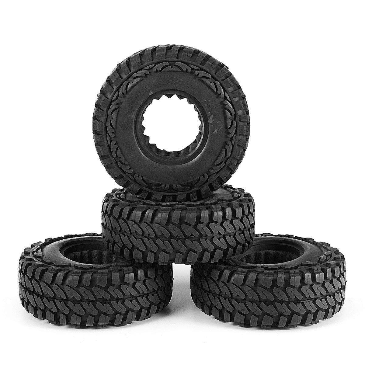 4pcs Rc Car 108mm Tires For 1/10 Rc Crawler 4wd Scx10 Cc01 1.9 Inch Wheels Parts By Autoleader.