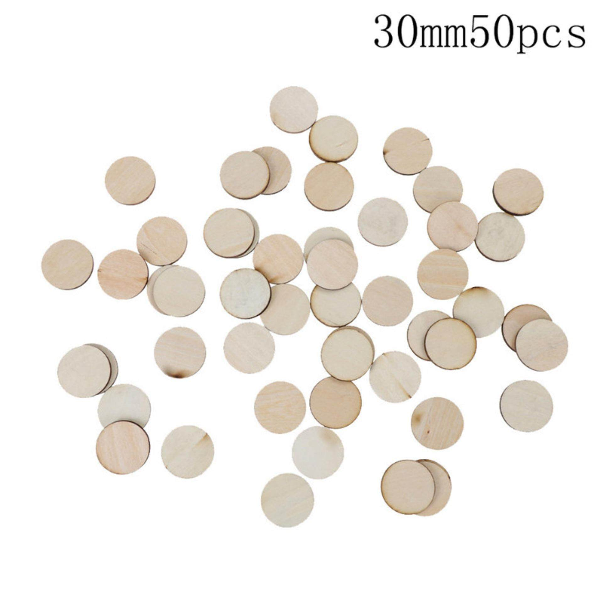 Unfinished Wooden Round Discs Embellishments DIY Rustic Art Crafts  3mm