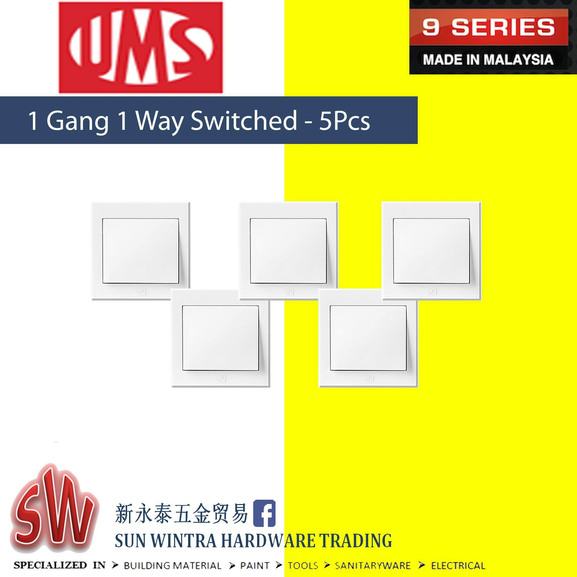 UMS 9 Series 1 Gang 1 Way Switched 5Pcs