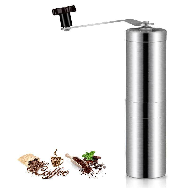 Wilk Household Manual Coffee Grinder Stainless Steel Coffee Grinder Hand Bean Miller Coffee Bean Grinding Machine for Home Office